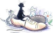 котята в ботинке