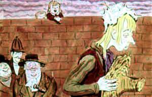 Джек-Простак несет сыр на голове