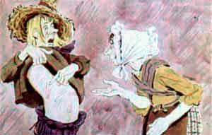 Джек-Простак показывает матери царапины