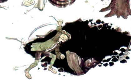 Джек ударил его со всего размаху тяжелой киркой по макушке и убил наповал