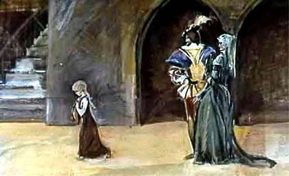девочка в замке