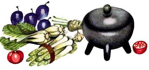 котелок и овощи