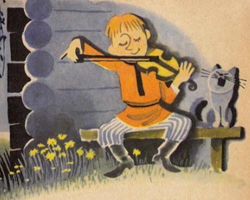 Стал Филя на скрипке играть
