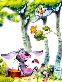 Однажды кролик сидел под деревом и вслух размышлял о жизни