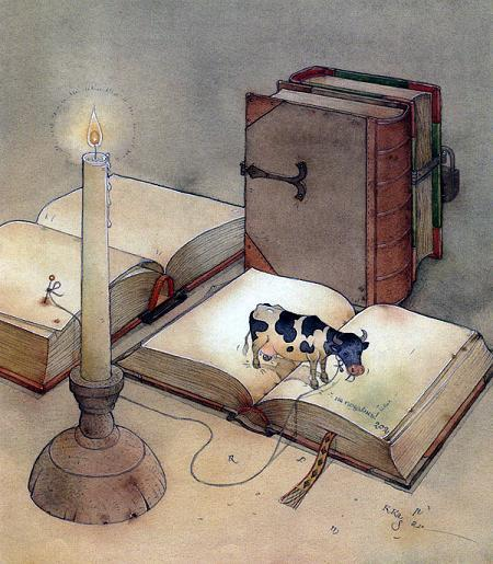 Книжная коровка