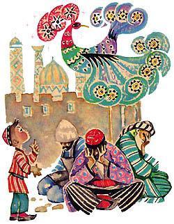 Пошёл Ярты-гулок с отцом на базар Голубая птица