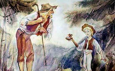 Гонза и старик дает мешочек