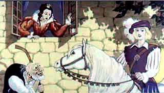 крик принцессы услышал горбатый нищий.