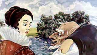 принцесса и старый нищий и пришли наконец к реке.