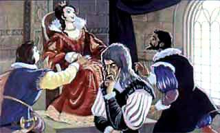 Со всех концов прискакали на конях принцы и графы.