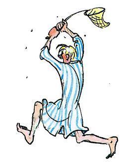 папа Эмиля бегал по кухне, пугая несчастных мух