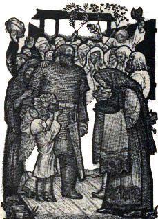 Илья Муромец и жители его села