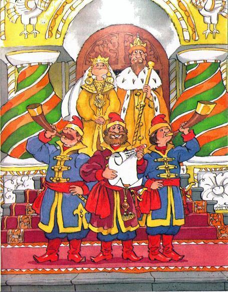 царь решил дочку срочно замуж выдать.