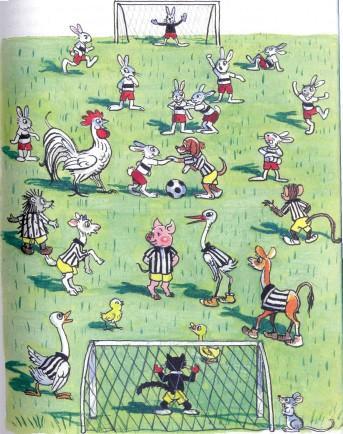 звери играют в футбол