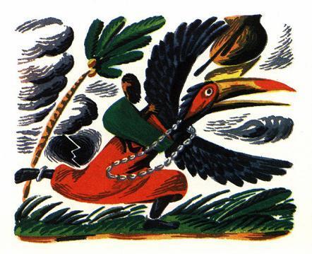 Как Калао стала черной (африканская сказка)