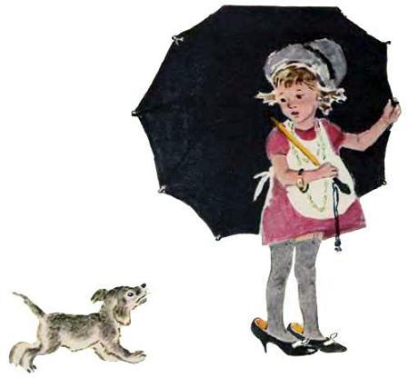 Как Маша под зонтом и щенок