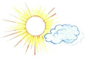 солнышко солнце облако