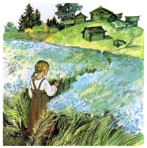 девочка на цветочном поле