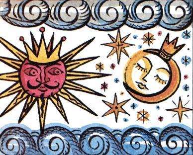 Как солнце и луна друг к другу в гости ходили