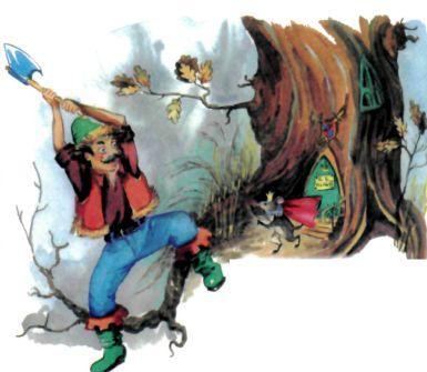 дровосек рубит топором