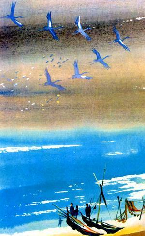 Как журавли стали небесными оленями