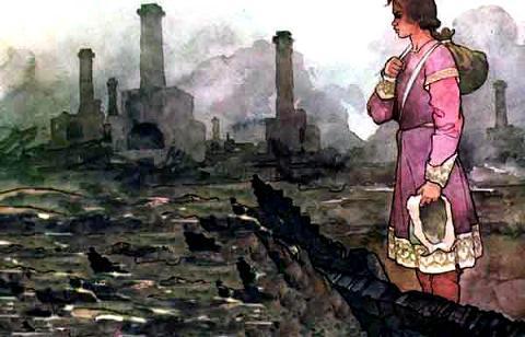 Вернулся Никитушка в родные края и видит - одни головешки кругом дымятся