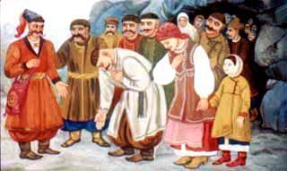 Вышли люди из горы к Казау Мамарыге