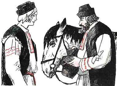 два мужика и лошадь