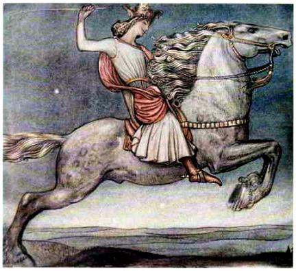Жил-был принц. Скакал он как-то лунной ночью на своем коне