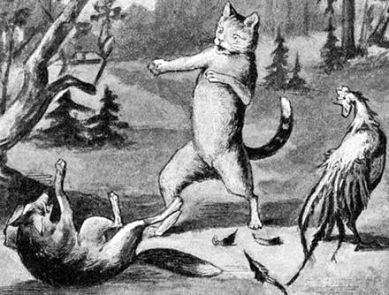 Кот, кочеток и лиса