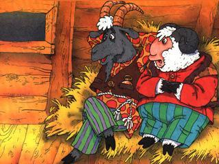 козел и баран на сеновале
