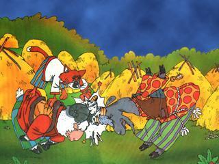 козел и баран сталкиваются рогами добывают огонь
