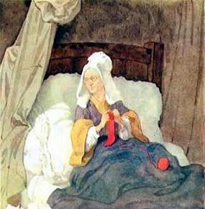 Бабушка Красной шапочки в постеле