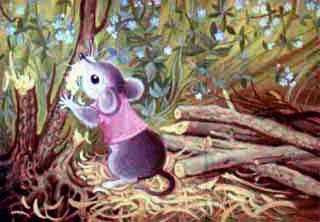 Мышонок дрова рубил
