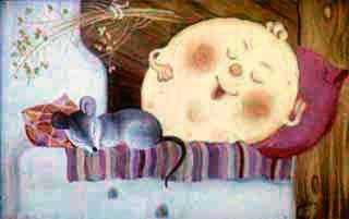 блин и мышь на печи нежится
