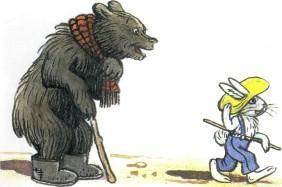 медведь и заяц в шляпе