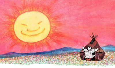 солнце над тундрой встает