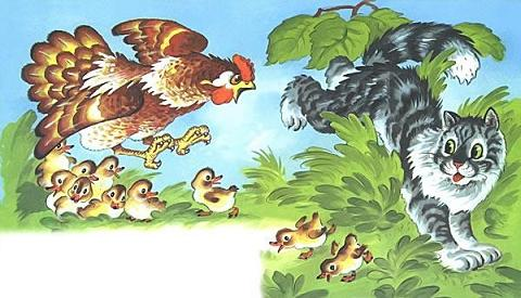 Курочка Ряба и десять утят схватка с кошкой