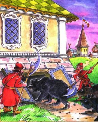 царские солдаты зангали сорок медведей и заперли