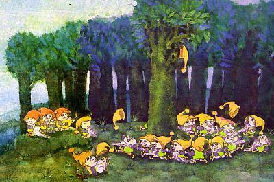 гномы в лесу