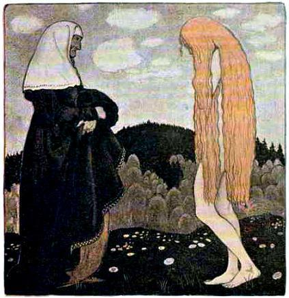 Кто ты такая и почему разгуливаешь на рассвете совсем голая? — спросила женщина