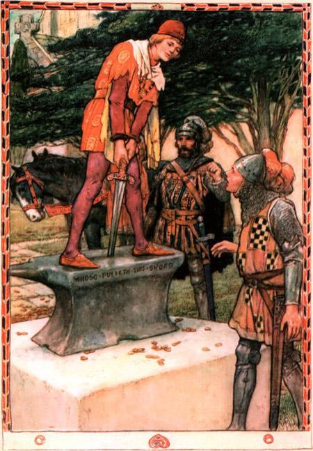 Артур легко достал меч из камня