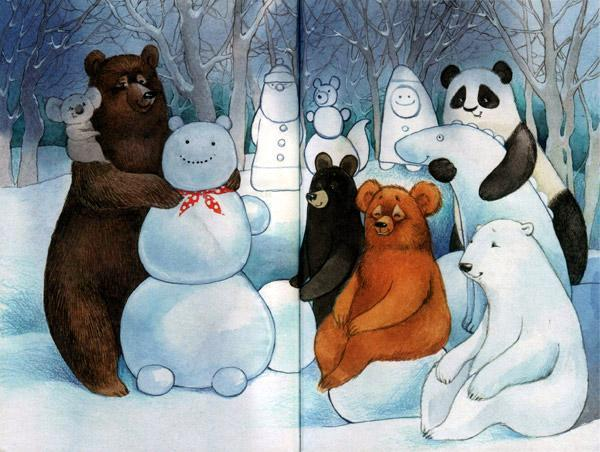 медведи и снежные бабы