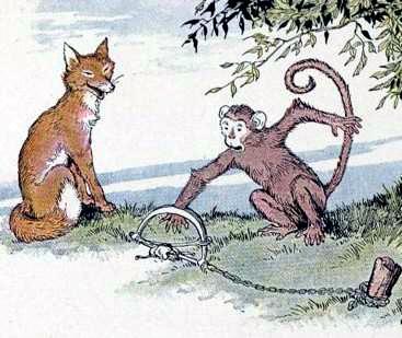 Лиса и обезьяна
