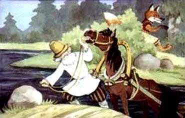 Взял дед коня под уздцы и повел к дороге