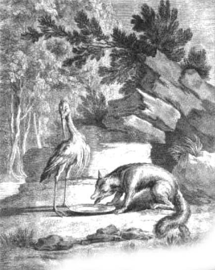 Лисица и аист