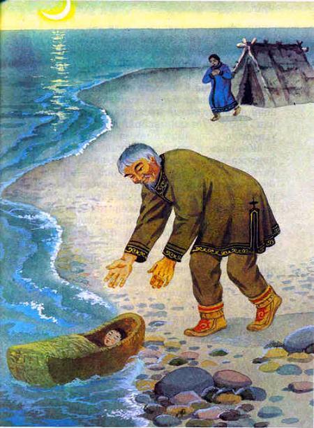 люльку с ребенком прибило к берегу