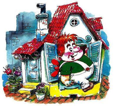 Карлсон который живет на крыше и его домик