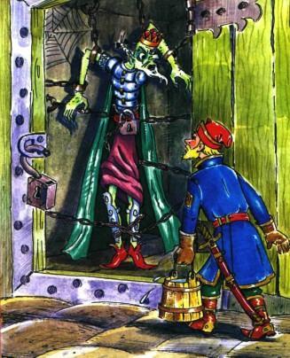 иван царевич заглянул в чулан а там кощей бессмертный прикованный цепями