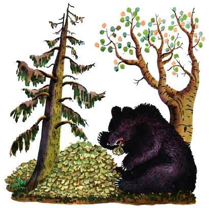 Медведь-половинщик и вершки
